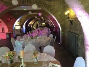 Aufbau Hochzeit Kloster Steinfeld